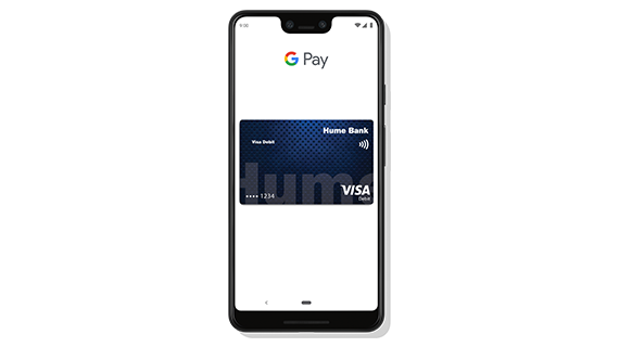 "<h2 style=""color: rgb(250, 80, 80);"">Hume Bank VISA encrypted and secured by Google Pay<sup>TM</sup></h2>"