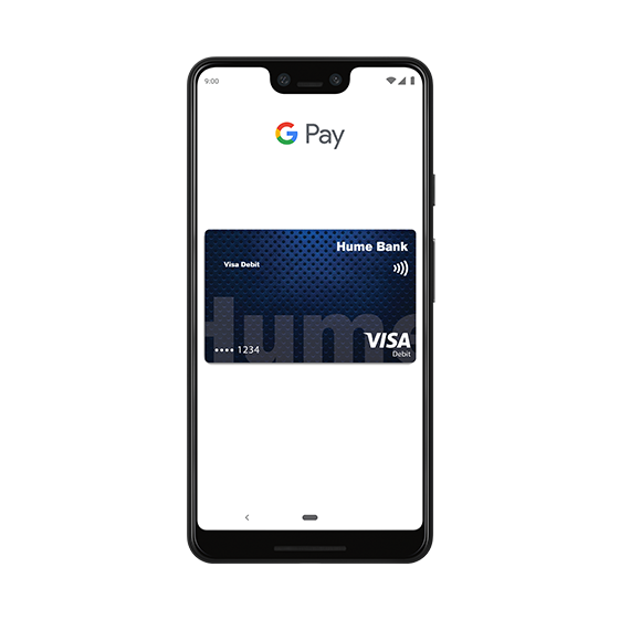 <h2>Hume Bank VISA now supports Google Pay<sup>TM</sup></h2>