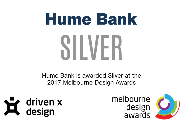 Hume Bank's Website Wins Silver at the 2017 Melbourne Design Awards