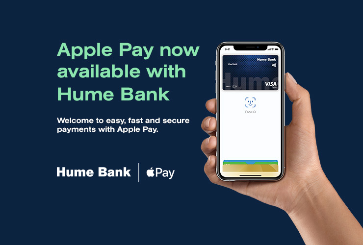 Apple Pay now available with Hume Bank