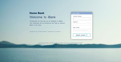 Hume Bank - Getting Started